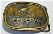 VINTAGE 1970'S INDIANA METAL CRAFT FEDERAL SHELLS DUCK BUCKLE